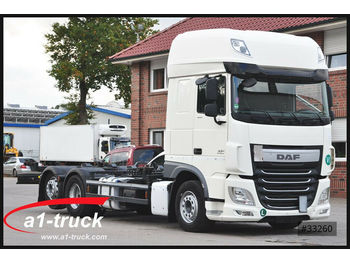 DAF XF 460 FAR, ACC, 2x AHK,  Intarder,  7.45/7.82,  - camion porte-conteneur/ caisse mobile