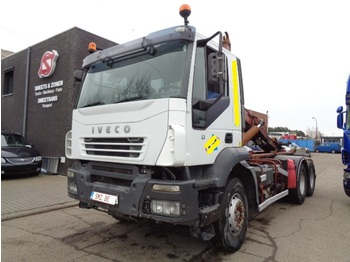 Iveco Trakker 480 MAnual Zf intarder/airco - camion porte-conteneur/ caisse mobile