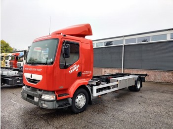 Camion porte-conteneur/ caisse mobile Renault Midlum 220DCI 4x2 Euro3 Manual - BDF chassis - Roof Spoiler - 2x Stainless steel boxes- Extra Batteries 12/2020APK