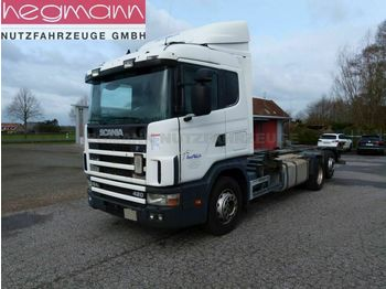 Camion porte-conteneur/ caisse mobile Scania 124 420 6x2, Euro 3, Retarder, Opticruise, dE: photos 1