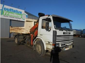 Camion porte-conteneur/ caisse mobile Scania 82 - container - crane - full steel