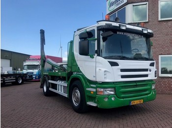Scania P340 4X2 CONTAINERSYSTEM HYVALIFT TOP CONDITION!! - camion porte-conteneur/ caisse mobile