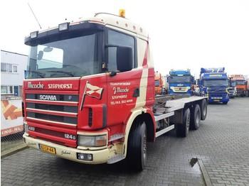 Camion porte-conteneur/ caisse mobile Scania R124-420 R 124 GB 8X2/4 NA 420