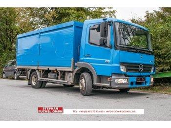 Camion pour le transport de boissons Mercedes-Benz Atego 818 Getränkekoffer Rolladen 145tkm!