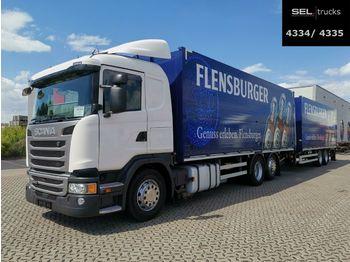 Camion pour le transport de boissons Scania G410 / Retarder / Lenkachse / with trailer