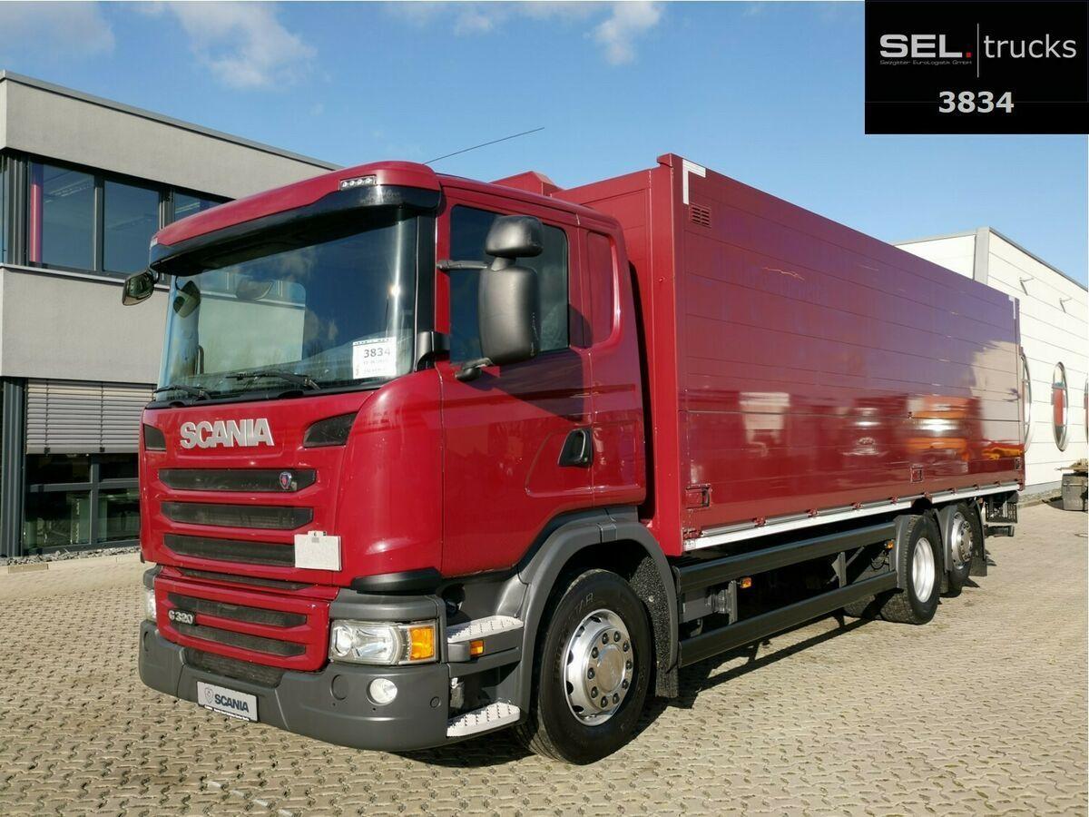 camion pour le transport de boissons Scania G 320/ Lift-Lenkachse/ Ladebordw./ NAVI/ Kamera