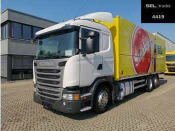 Camion pour le transport de boissons Scania G 410 / Retarder / Lenkachse / Ladebordwand