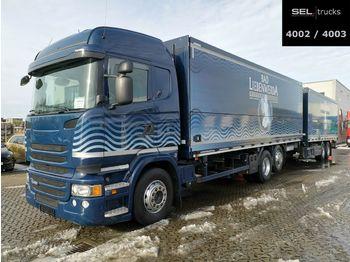 Camion pour le transport de boissons Scania R 450 LB6X2*4/Lenk-Liftachse/Retarder/Ladeborw.
