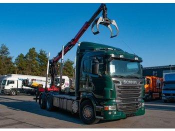 Camion Scania R500 V8 6x2 Huttner Palfinger M100Z