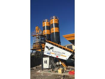 FABO TURBOMIX-100 MOBILE CONCRETE PLANT READY ON STOCK NOW 100 M3/H. - centrale à béton