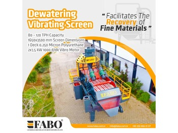 FABO PREMIUM QUALITY DEWATERING SCREEN WITH PU MESH - concasseur