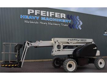 Nacelle articulée Niftylift HR21DE 2WD Bi Energy, 20.8 m Working Height, 13m R