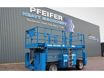 Nacelle ciseaux Genie GS4390RT Diesel, 4x4 Drive, 15.11m Working Height,