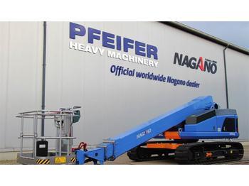 Nacelle télescopique Nagano S15AUJ Tracked Boomlift, 15 m Working Height, Rubb