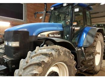 Tracteur agricole New Holland TM 190 with dual wheels