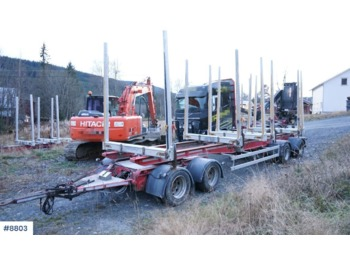 MST 4 axle Timber trailer. - camion grumier