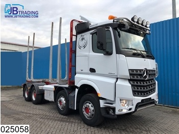 Camion grumier Mercedes-Benz Arocs 3563 8x4, EURO 6, Steel suspension, 13 Tons axles, Airco, Hydrauliek, Hub reduction, Wood / Tree transport