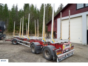 Camion grumier Trailer-Bygg timber trailer