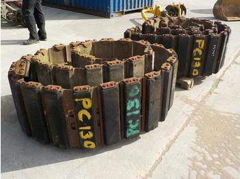 500mm Rubber Block Pad Track Group to suit Komatsu PC130 (2 of) - chenille