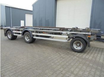 DAF 3 as aanhanger bladvering 30 Ton totaal - remorque porte-conteneur/ caisse mobile