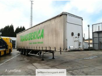 FRUEHAUF full steel frame tri axle 34 ton with lifting roof - semi-remorque bâche
