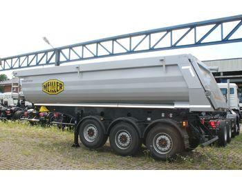 Semi-remorque benne Meiller MHPS 44/3 N  25m³ Stahl Mulde