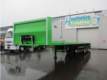 Semi-remorque plateau CE REMORQUES Full steel - drum brakes - container transport