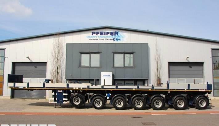 semi-remorque plateau Nooteboom OVB 95-07 69t Load Capacity, Available For Rent.