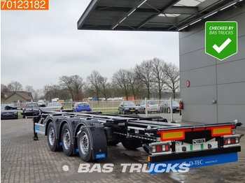 Semi-remorque porte-conteneur/ caisse mobile D-Tec Flexitrailer FT-LS-S 3 axles *New Unused* Flexilock 2x20-1x30-1x40-1x45