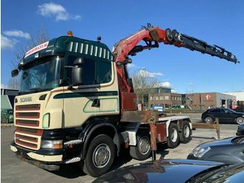 Tracteur routier Scania R480 8X4 MANUAL FULL STEEL + FASSI F800 BXP.26 M