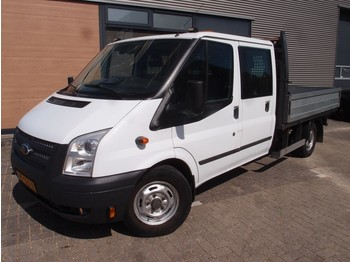 Ford Transit 330L TDCI DC pick up 2800kg trekhaak 7-pers nieuwstaat euro5 openlaadbak airco - utilitaire plateau